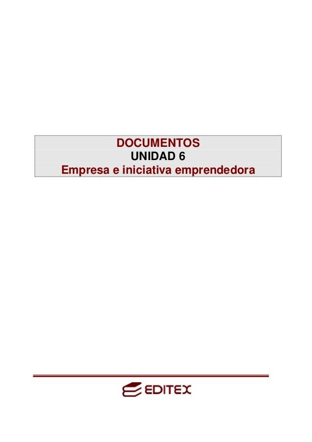 DOCUMENTOS UNIDAD 6 Empresa e iniciativa emprendedora