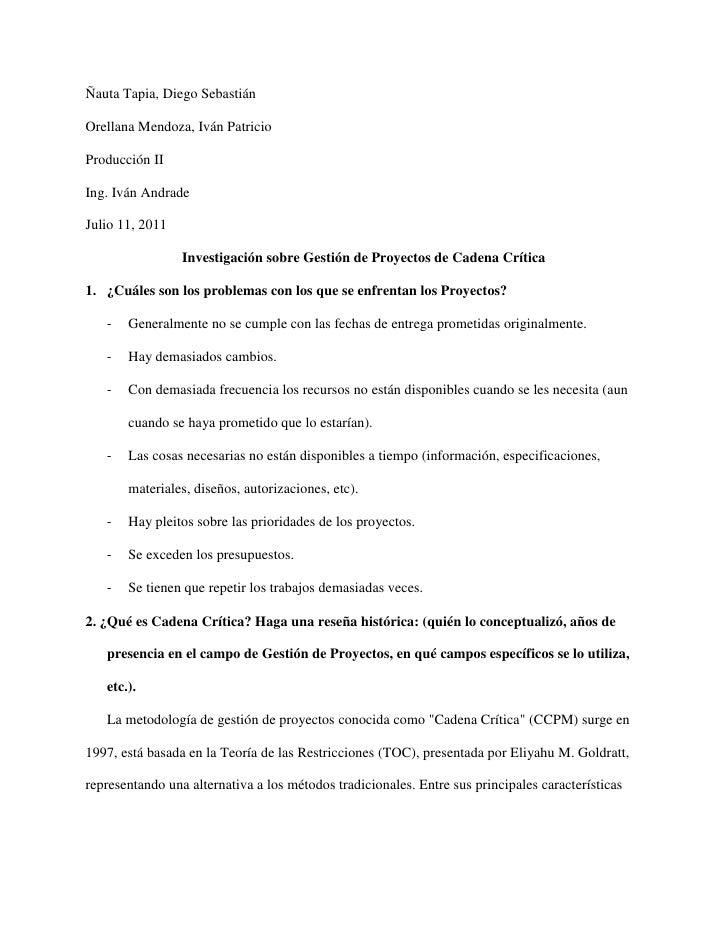 Ñauta Tapia, Diego SebastiánOrellana Mendoza, Iván PatricioProducción IIIng. Iván AndradeJulio 11, 2011                 In...