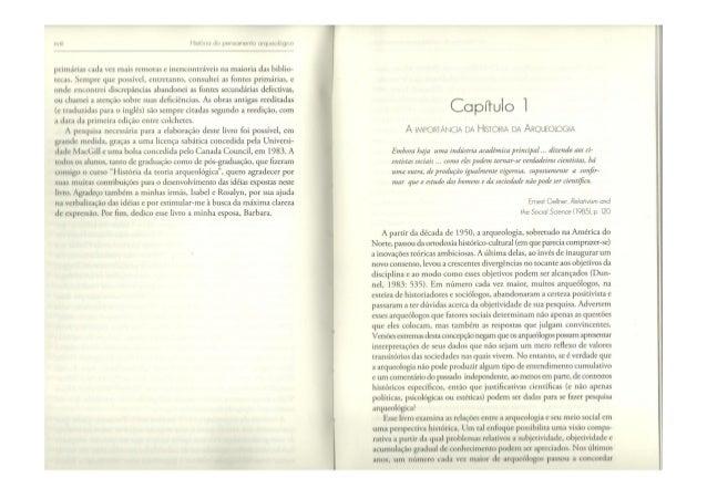 HISTÓRIA DO PENSAMENTO ARQUEOLÓGICO (capitulos 1 e 2)