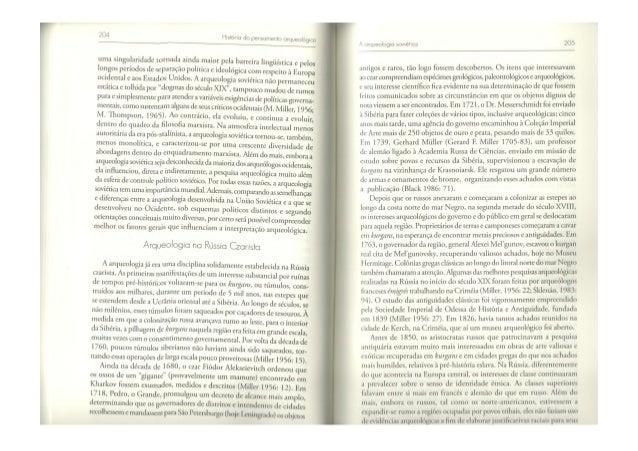 HISTÓRIA DO PENSAMENTO ARQUEOLÓGICO - CAPITULO 6
