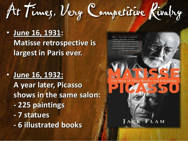 """Picasso Greatly Respected Matisse  At a group luncheon, Matisse excuses himself. Picasso says, """"He must be resting on the ..."""