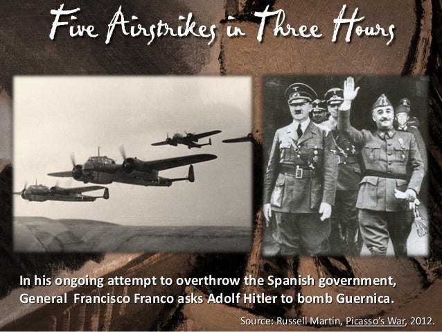 Hitler's F Use of a Blitzkrieg irst  50 aircraft with 120 airmen carrying 1,000s of pounds of bombs. They refueled, making...