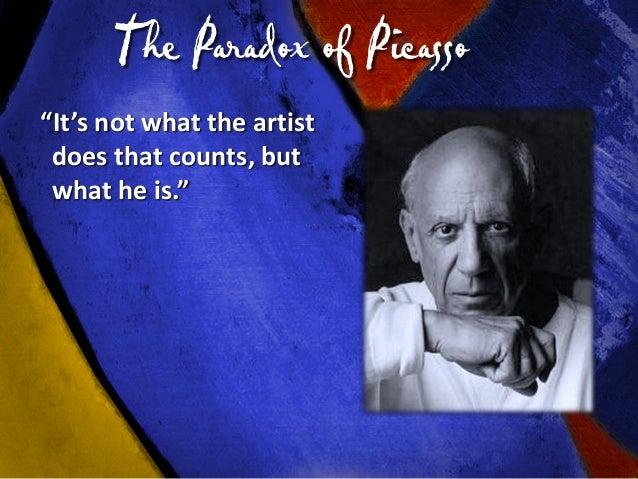 Who Do You See in the Mirror? You can produce like Picasso but you don't have to pay the same price. We all go through the...