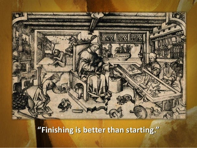 "In ancient times, art teachers told their students that ""finishing is better than starting."" Today, you are going to learn..."