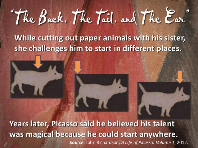 F Oil Painting of Picasso irst • Picasso finished his first oil painting at 9 years of age. • Upon seeing it, his father s...