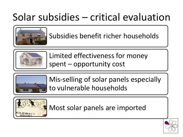subsidy to producers Consumers pay the price for sugar subsidies as a result of the sugar program insulating producers from market forces and most importantly competition.