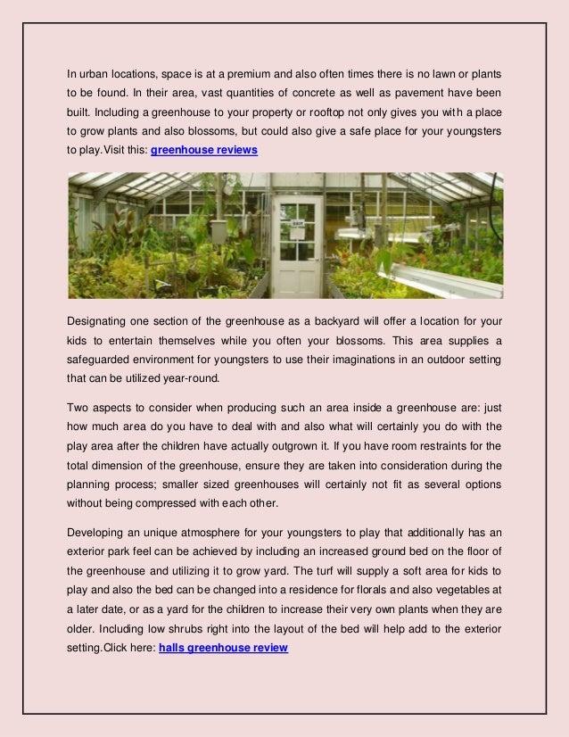 Producing a backyard inside a greenhouse Slide 2