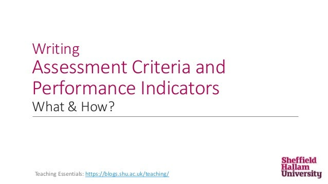 writing evaluation criteria