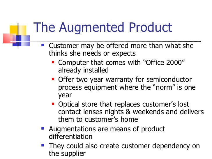 augmented definition customer