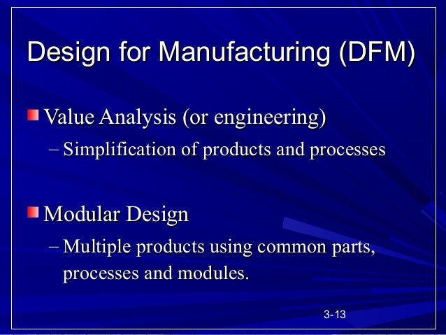 Product design ppt for Product design for manufacturing