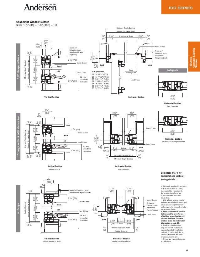 Andersen Product Guide 100 Series Window Door 9045491