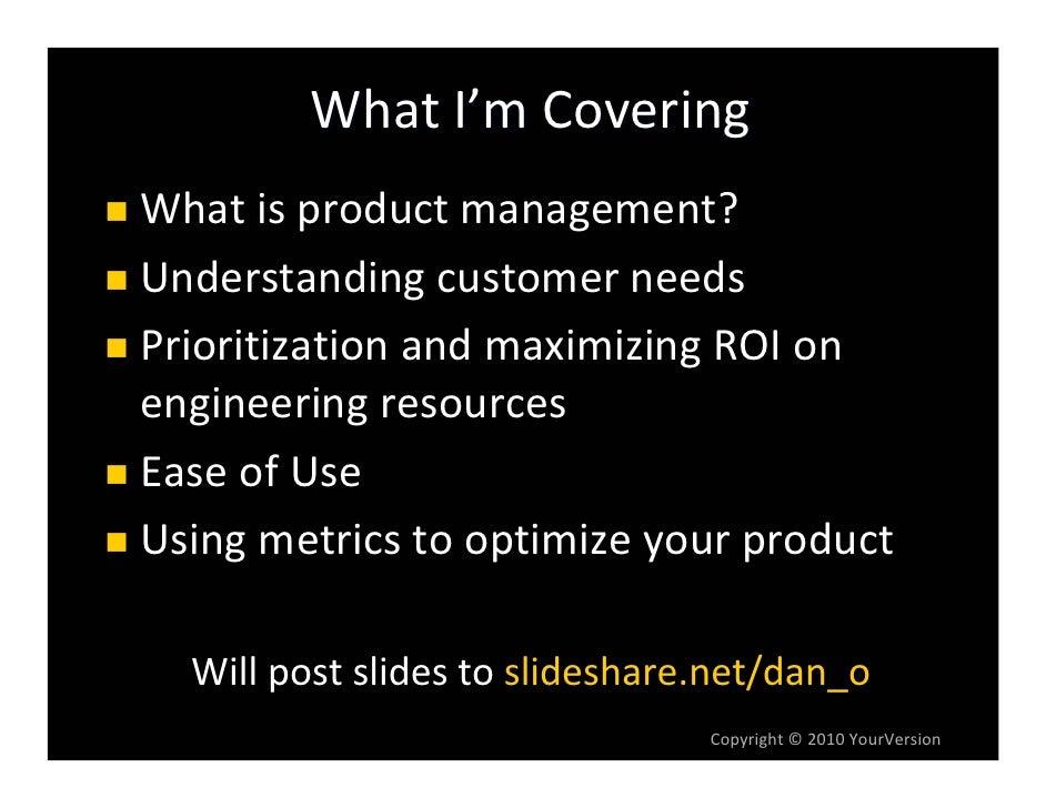 Product Management 101 for Startups Slide 3