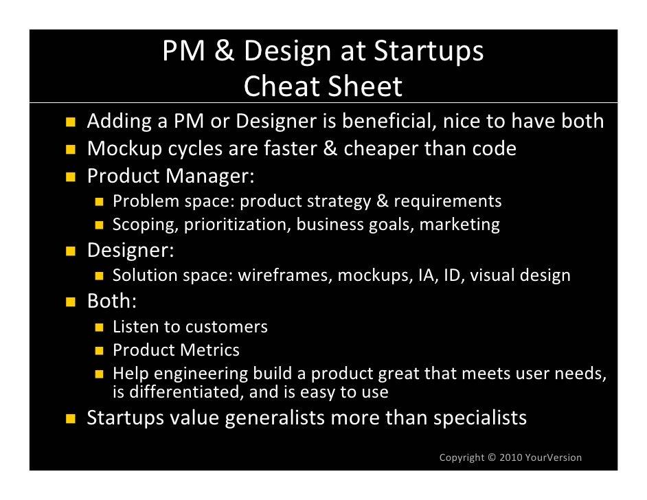 PM&DesignatStartups              CheatSheet AddingaPMorDesignerisbeneficial,nicetohaveboth Mockupcyclesar...