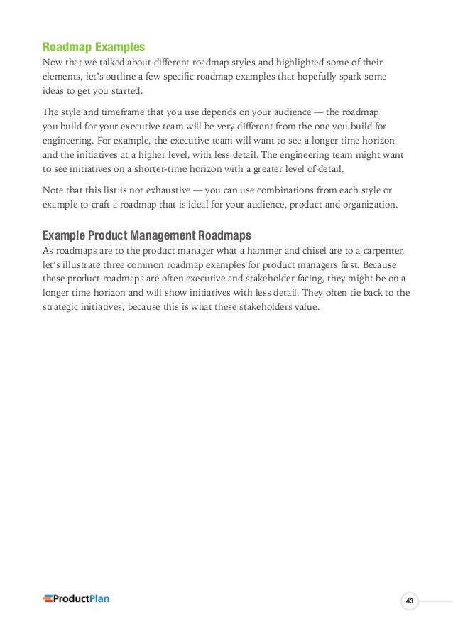 product roadmap guide by product plan