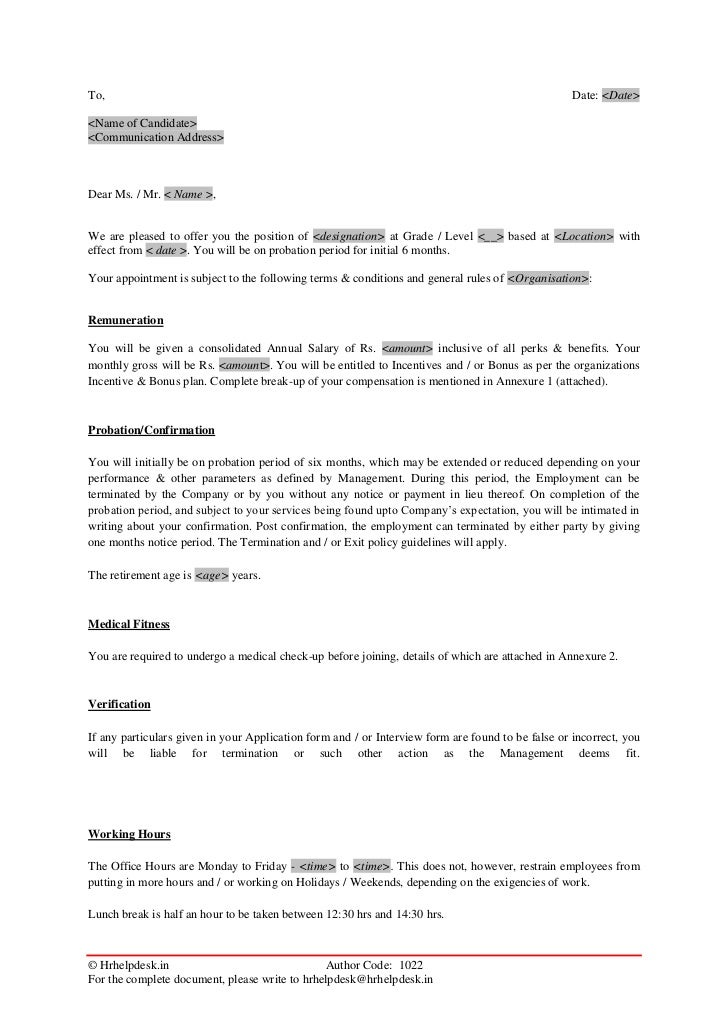 Appointment Letter Format In Marathi Pdf