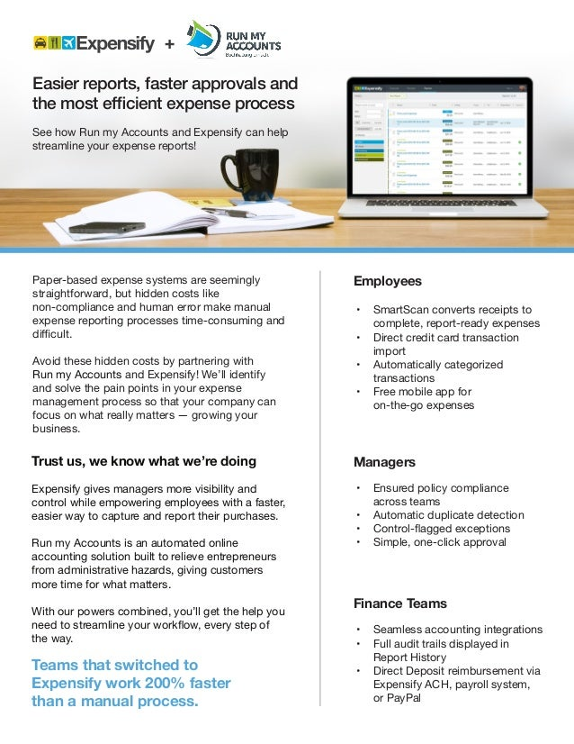 Product Sheet Expensify - Run my Accounts