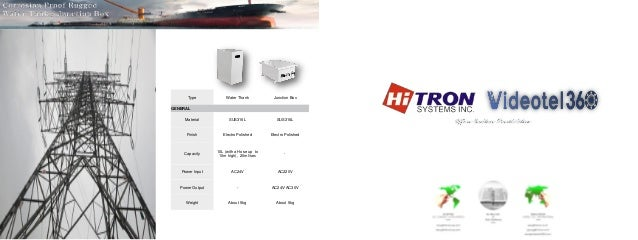 Corrosion Proof Marine CCTV