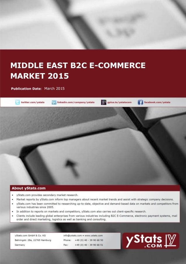 MIDDLE EAST B2C E-COMMERCE MARKET 2015 March 2015