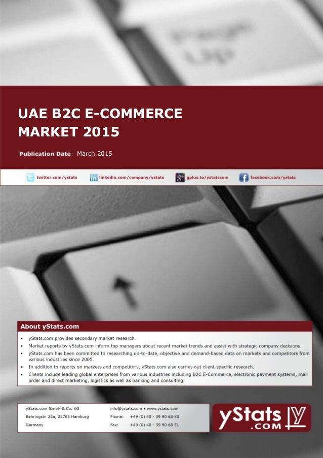 UAE B2C E-COMMERCE MARKET 2015 March 2015
