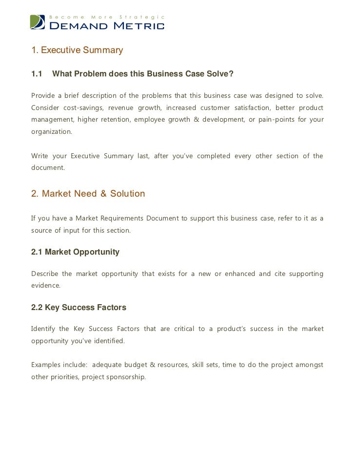 Product business case template wajeb Image collections