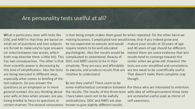 What is a Personality Test?