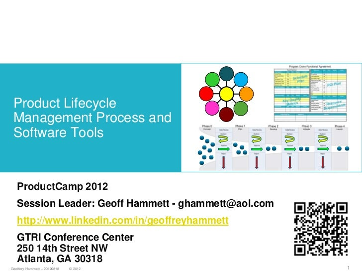 Product Lifecycle Management Process and Software Tools   ProductCamp 2012   Session Leader: Geoff Hammett - ghammett@aol....