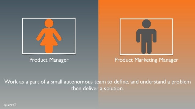 Product Manager Product Marketing Manager Work as a part of a small autonomous team to define, and understand a problem the...