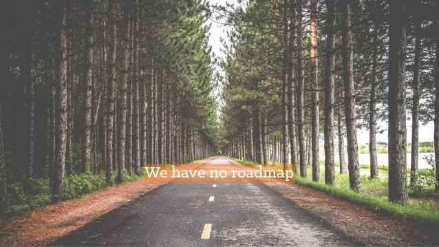 We have no roadmap