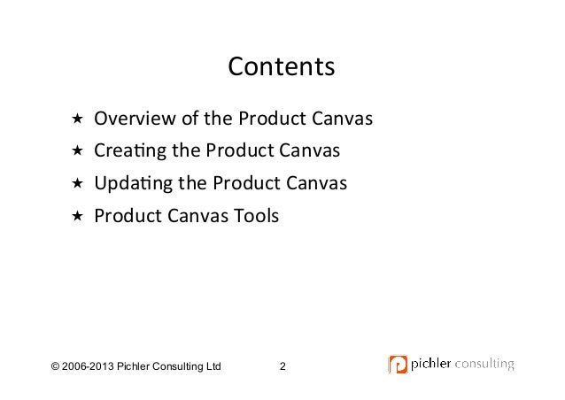 The Product Canvas Tutorial V1.0 Slide 2