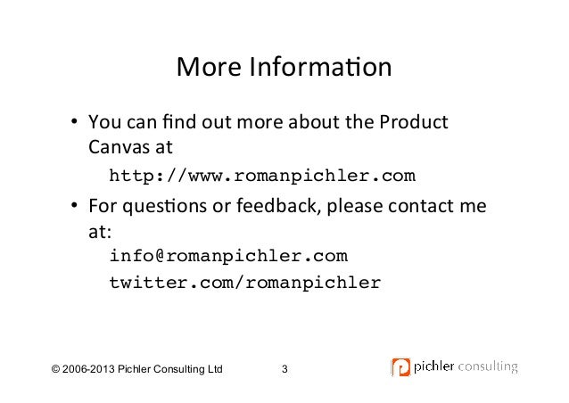 The Product Canvas Tutorial V1.0 Slide 3