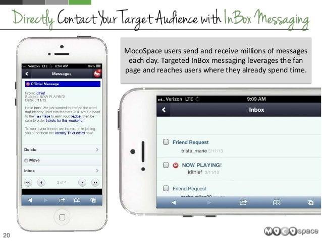 Mocospace messages inbox