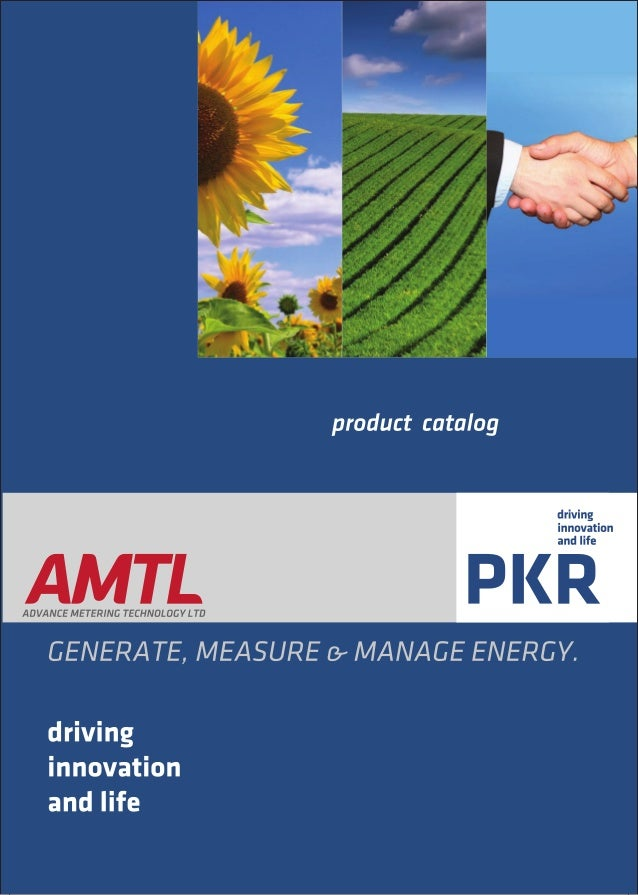 Product catalog energy meters