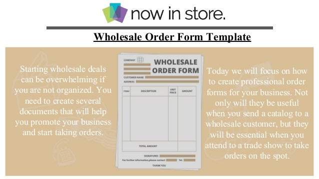 catalogue order form template