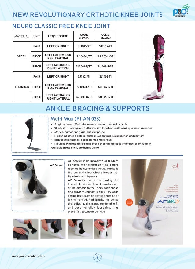 P&O International Orthotic Delhi