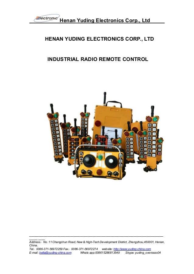 Henan Yuding Electronics Corp., Ltd __________________________________________________________________________________ ___...