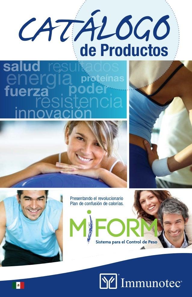 Immunotec catalogo de productos for Modelo de catalogo de productos