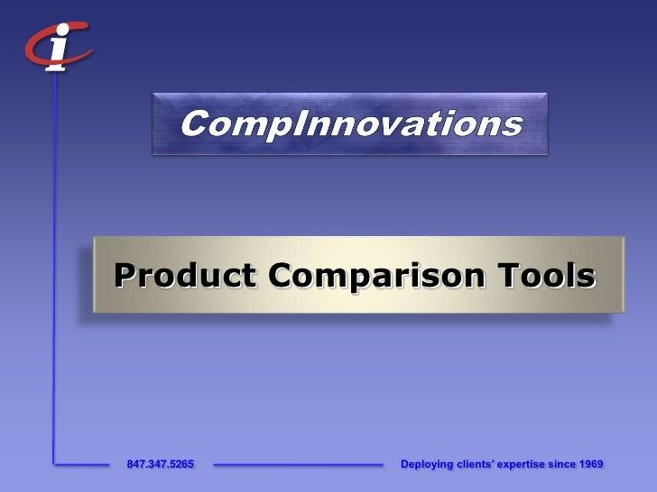 CompInnovations<br />Product Comparison Tools<br />