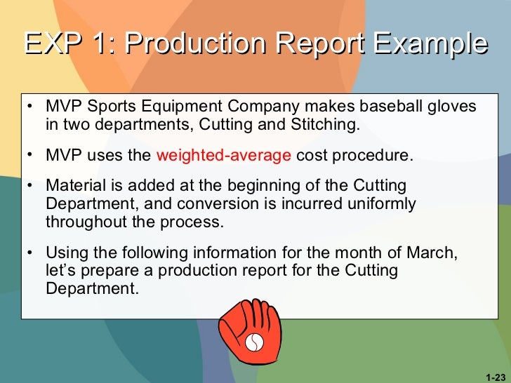 <ul><li>MVP Sports Equipment Company makes baseball gloves in two departments, Cutting and Stitching.  </li></ul><ul><li>M...
