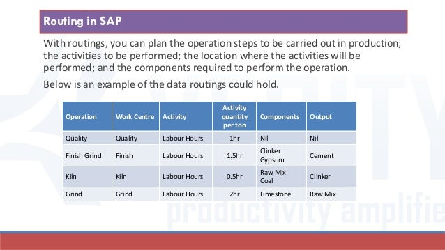 With routings, you can plan the operation steps to be carried out in production; the activities to be performed; the locat...