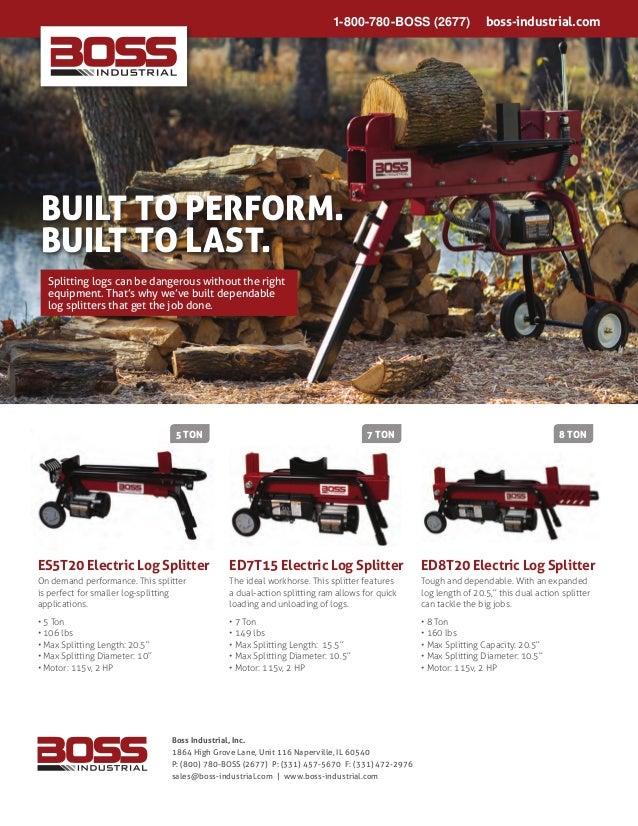 abac73a402f7 Boss Industrial Electric Log Splitters - WoodSplitterDirect.com