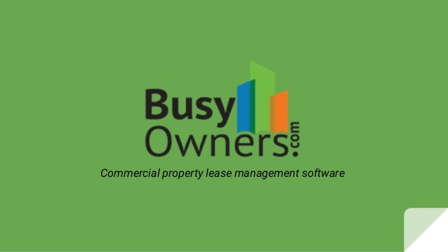 Commercial property lease management software