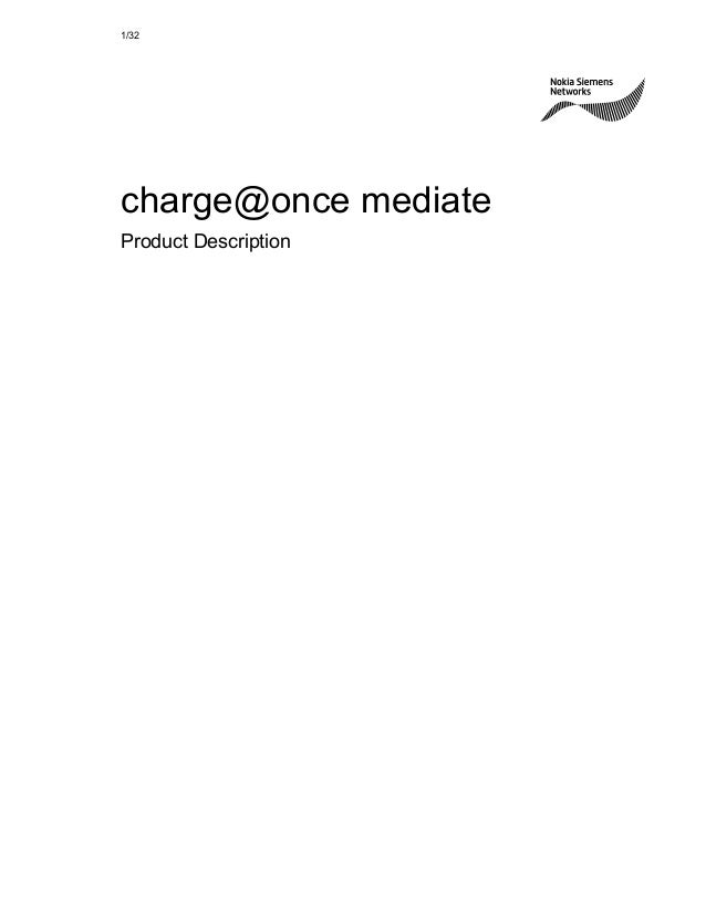1/32  charge@once mediate  Product Description