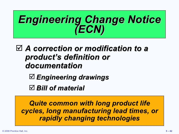 Product design engineering change notice sciox Images