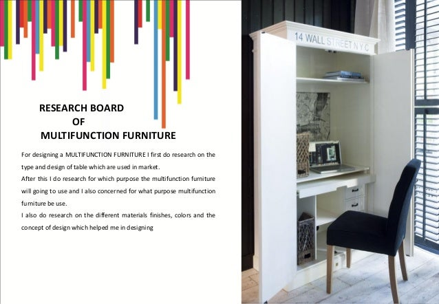 Product design multi function furniture for Research interior decoration and design influences