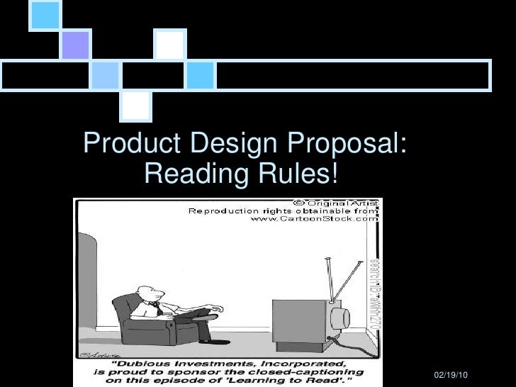 Product Design Proposal: Reading Rules!  Chris Loiselle
