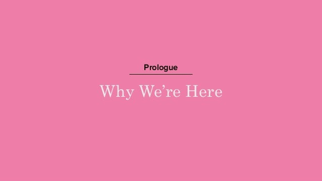 Why We're Here Prologue