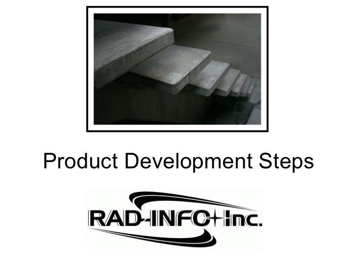 Product Development Steps