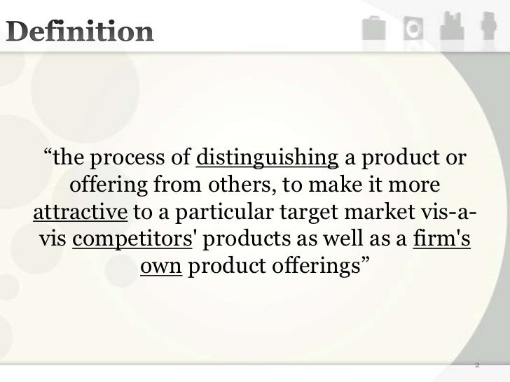 product differentiation strategy definition