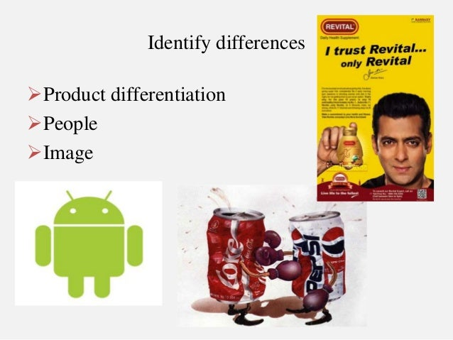 product differentiation Horizontal product differentiation how far does a market extend which firms  compete with each other what is an industry products are not homogeneous.