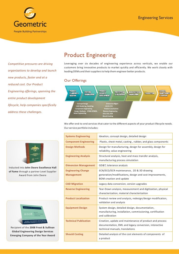 Engineering Services                                           Product EngineeringCompetitive pressures are driving       ...